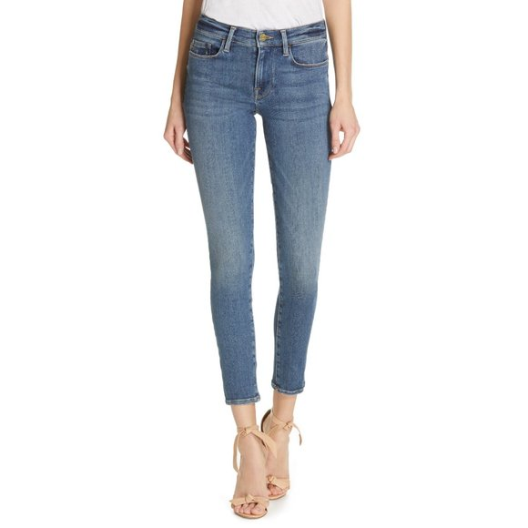 *Flawed* Frame   Le Skinny De Jeanne Ankle Skinny Jeans In Maje